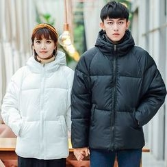 Evolu Fashion - Couple Matching Hooded Padded Jacket
