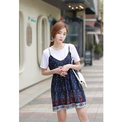 MyFiona - Sleeveless Patterned Mini Dress