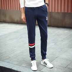 Bay Go Mall - Contrast Trim Sweatpants