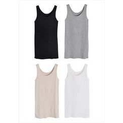 GOROKE - Scoop-Neck Cotton Tank Top