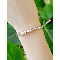 soo n soo - Metal-Trim Braided Bracelet