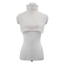 maybe-baby - Turtle-Neck Sleeveless Cropped Top