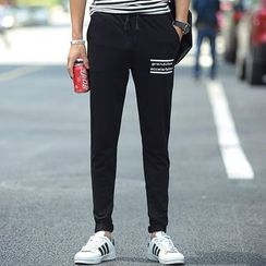 Bay Go Mall - Lettering Drawstring Sweatpants