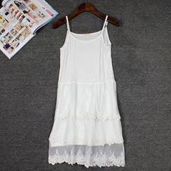 LaRos - 飾蕾絲吊帶裙