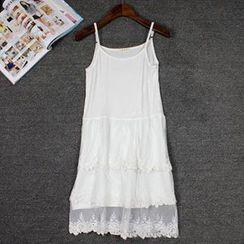 LaRos - 饰蕾丝吊带裙
