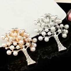 Glitglow - 珠飾樹木胸針