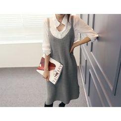 DANI LOVE - V-Neck Sleeveless Knit Midi Dress