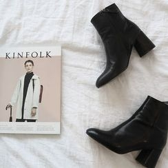 NANING9 - Faux-Leather Ankle Boots