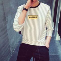Etoile - 七分袖条纹上衣