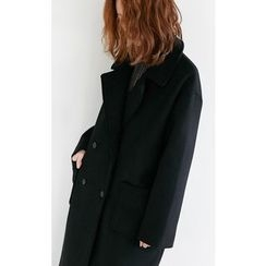 Someday, if - Double Breasted Wool Blend Coat