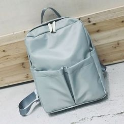 Youme - Plain Pocketed Backpack