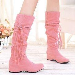 Sidewalk - Fringe Tall Boots