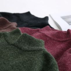 LEMONADE - Ribbed Mock Neck Sweater