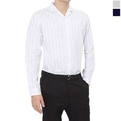 Seoul Homme - Long-Sleeve Stripe Shirt