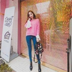 ERANZI - Distressed Skinny Jeans