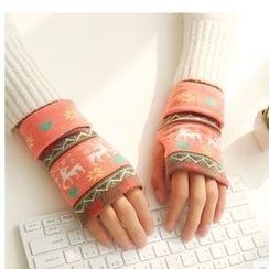 Class 302 - Pattern Fingerless Knit Gloves