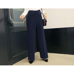 DANI LOVE - Flap-Pocket Wide-Leg Pants