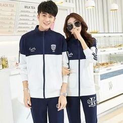Lovebirds - Set: Couple Printed Sweatshirt + Sweatpants