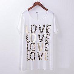Classic Lady - 'LOVE' Print Short-Sleeve T-Shirt