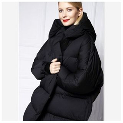 Melosio - Hood Down Coat