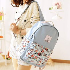 Canvas Love - Owl Print Canvas Backpack