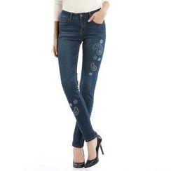 O.SA - Embroidered Skinny Jeans