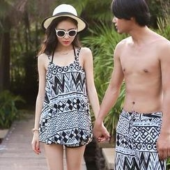 Beach Date - Set: Printed Bikini + Cover-Up