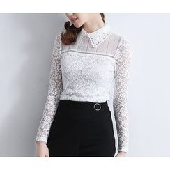 Brightful - Lace Long-Sleeve Top