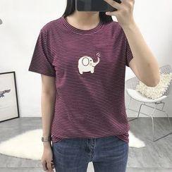 Adima - Long-Sleeve Printed T-Shirt