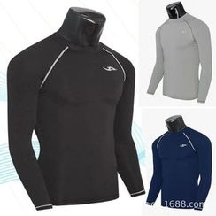 Hansel - Sports Slim Fit Quick Dry Long-Sleeve Top