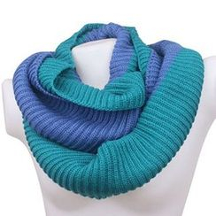 Rita Zita - Couple Matching Two-tone Knit Scarf