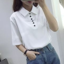 KAKAGA - Plain Polo Shirt