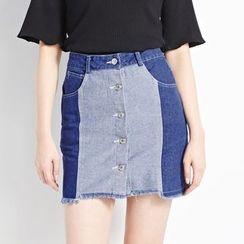 Tokyo Fashion - Panel Denim Skirt