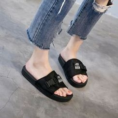 Meohip - Buckled Slide Sandals