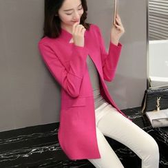 Cotton Candy - Plain Knit Long Jacket