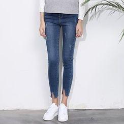 森之誠品 - 窄身九分牛仔褲