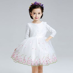 HELLO BABY - Kids Bow Party Dress