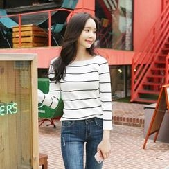 Envy Look - Striped Slim-Fit Knit Top