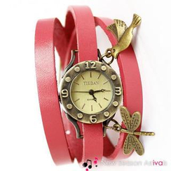 Miss Girl - Genuine-Leather Bracelet Watch