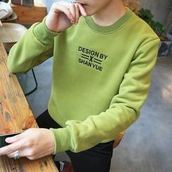 Masowild - Letter Embroidered Pullover
