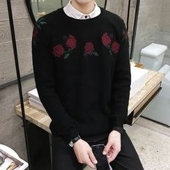 NAPO - Rose Embroidered Sweater
