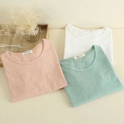 Mushi - Long-Sleeve Round-Neck T-Shirt