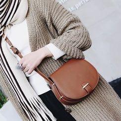 Albatross - Plain Faux Leather Shoulder Bag