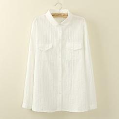 Tangi - Embroidered Striped Shirt