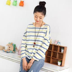59 Seconds - Round-Neck Striped T-Shirt