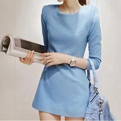 Dowisi - Bracelet-Sleeve Shift Dress