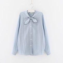 Meimei - Tie Neck Shirt
