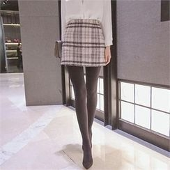 TOM & RABBIT - Plaid Mini Skirt