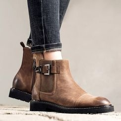 MIAOLV - Buckled Ankle Boots
