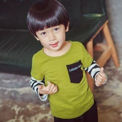 Lemony dudu - Kids Stripe Sleeve T-Shirt